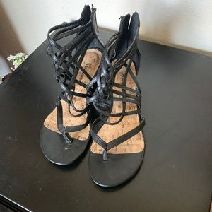 City Classified Black Sandal Size 7